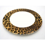 PLATO LLANO ROYAL PORCELAIN CHEETAH 27,5 CMS