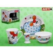 SET INFANTIL 4 PIEZAS SHEEP WHITE